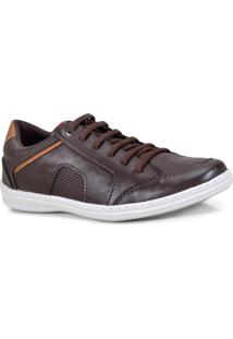 Sapatenis Masc Ped Shoes 14002-B Cafe/Castanho