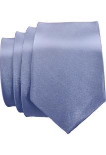 Gravata Unyforme Slim - Masculino-Prata