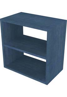 Nicho Quadrado Com Prateleira Cubo I Azul