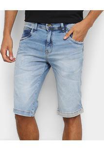 Bermuda Jeans Zune Masculina - Masculino-Azul Claro