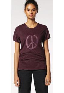 Camiseta De Manga Curta Diesel T-Sily-A - Feminino-Vinho