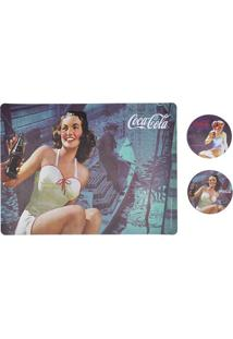 Jogo Americano E Porta Copos Coca-Cola Brunette Lady