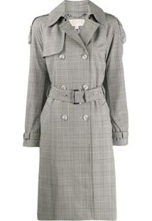 Michael Michael Kors Trench Coat Xadrez - Neutro