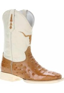 Bota Couro West Country Havana Masculino - Masculino-Off White