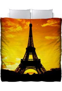 Edredom Colours Creative Photo Decor - Torre Eiffel Em Paris Amarelo
