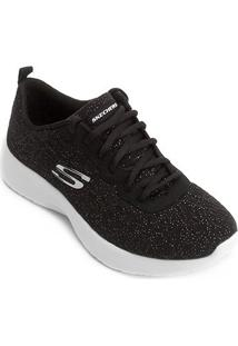 Tênis Skechers Dynamight Blissful Feminino - Feminino-Preto