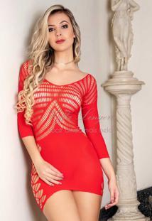 Mini Vestido Sensual Vermelho 1542 Yaffa
