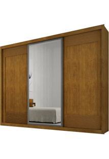 Guarda-Roupa Ravena Com Espelho - 3 Portas - 100% Mdf - Imbuia