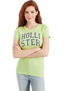 Camiseta Manga Curta Hollister Gráfica Verde