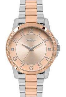Relógio Condor Feminino - Feminino-Rosa