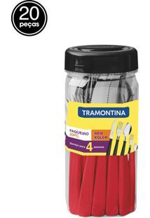 Faqueiro Inox 20Pc New Kolor Ver - Vermelho - Dafiti