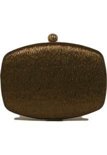 Clutch Lisbella Textura Resinada Ouro Velho
