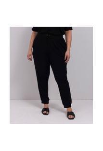 Calça Jogger Lisa Em Ribana Comfy Curve & Plus Size | Ashua Curve E Plus Size | Preto | G
