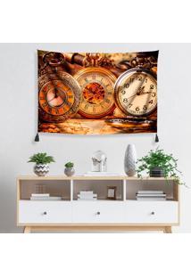 Tapeçaria De Parede Relógios Antigos