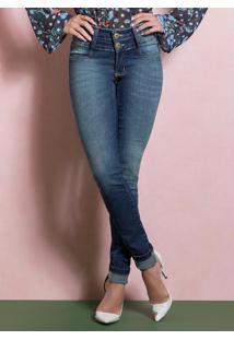 Calça Jeans Skinny Cintura Alta Quintess