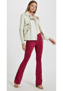 Calca Basic Flare High Color Touch Rosa Amour