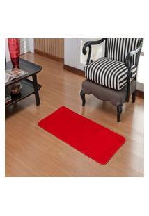 Tapete Retangular Premium- Liso 1,00 X 0,50 Vermelho