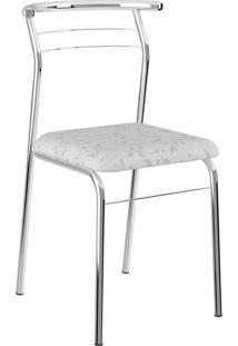 Kit 2 Cadeiras 1708 Tecil Fantasia Branco Carraro Móveis