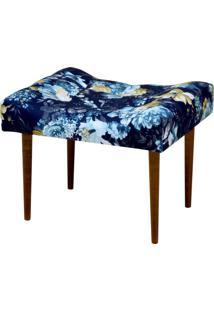 Puff Decorativo Lyam Decor Requinte Azul Estampado