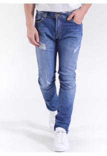 Calça West Coast Jeans St Fit Medium Wash Indigo Médio
