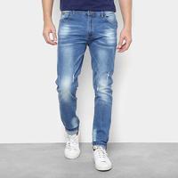 88025a998 Calça Jeans Skinny Watkins&Krown Destroyed Masculina - Masculino-Azul