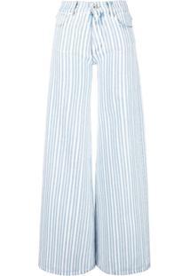 Off-White Calça Jeans Pantalona - Azul
