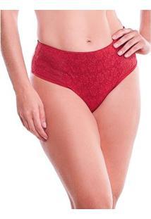 Calcinha Feminize Modeladora Em Laise - Feminino-Vermelho