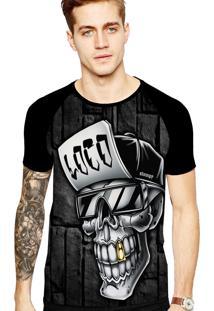 Camiseta Stompy Tattoo Rock Collection 138 Preto