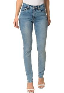 Calça Jeans Five Pocktes Mide Rise Slim Ckj 021 Mid Rise Slim - Azul Claro - 42
