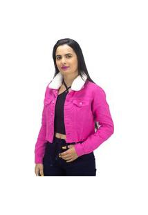 Jaqueta Jeans Naraka Girl Power Rosa Pink
