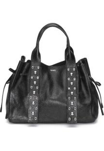 Bolsa Shopping Bag Rebites Schutz - Preto