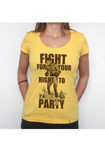 Fight For Your Right - Camiseta Clássica Feminina