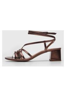 Sandália Amber Metalizada Bronze