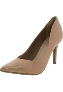 Sapato Feminino Scarpin Amêndoa Ramarim - 1623101