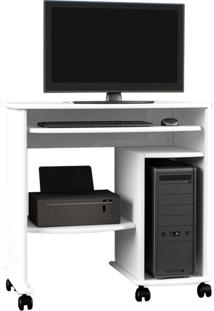 Mesa Para Computador C211 Branco Brilho