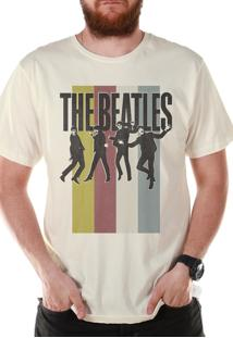 Camiseta Bandup Bandas The Beatles Jump Off White