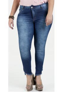 ... Calça Feminina Jeans Cintura Alta Cigarrete Plus Size Biotipo 59910949f66