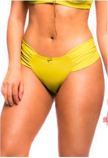 Calcinha Sempre Sensual Pala Fio Duplo - Feminino-Amarelo