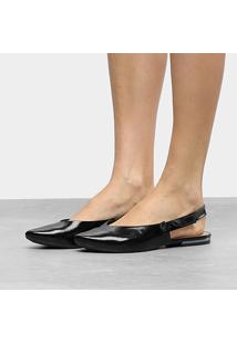 Sapatilha Dakota Chanel Laço Lateral Feminina - Feminino-Preto