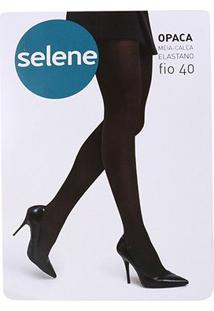 Meia Calça Selene Opaca Fio 40 Feminina - Feminino-Preto