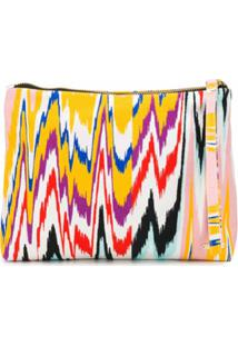 Missoni Mare Clutch Com Estampa Abstrata - Rosa