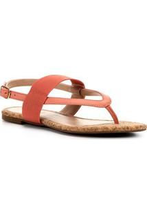 Rasteira Shoestock Double Elastic - Feminino-Coral