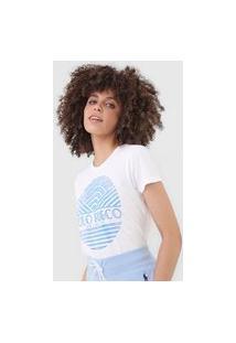 Camiseta Polo Ralph Lauren Geométrica Off-White/Azul