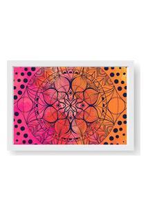 Quadro Love Decor Decorativo Com Moldura Mandala Color Branco