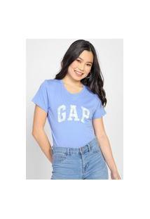 Blusa Gap Logo Floral Azul