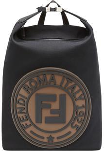 Fendi Mochila Com Logo - Preto