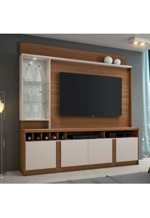 Estante Para Home Theater E Tv Até 60 Polegadas Canastra Rovere E Off White