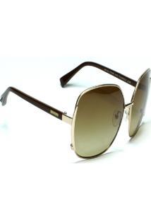 Óculos De Sol Jf Sun Luna - Dourado - Marrom Degradê