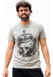 Camiseta Manga Curta Hardivision King Of Skull Verde