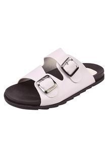 Birken Uzze Sapatos Fivela Branca